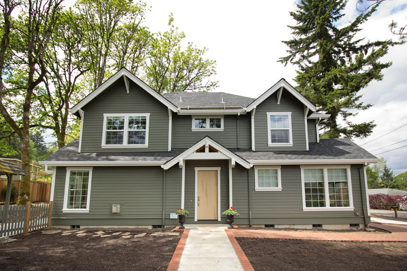 2 story craftsman front exterior view